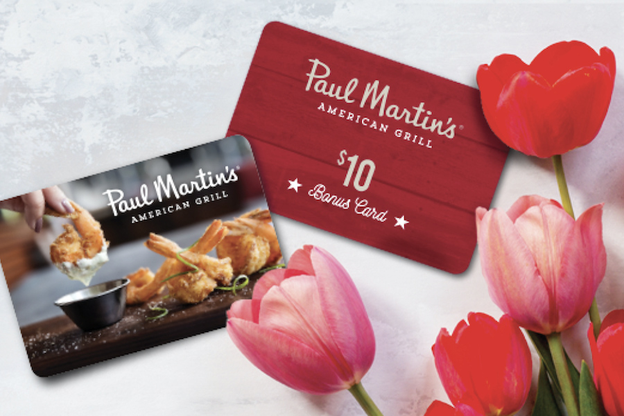 Special Offer at Paul Martin's American Grill