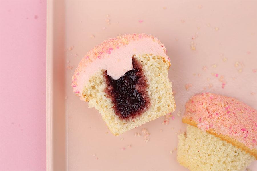 New Strawberry Shortcake Bar Cupcake at Sprinkles Cupcakes & Ice Cream
