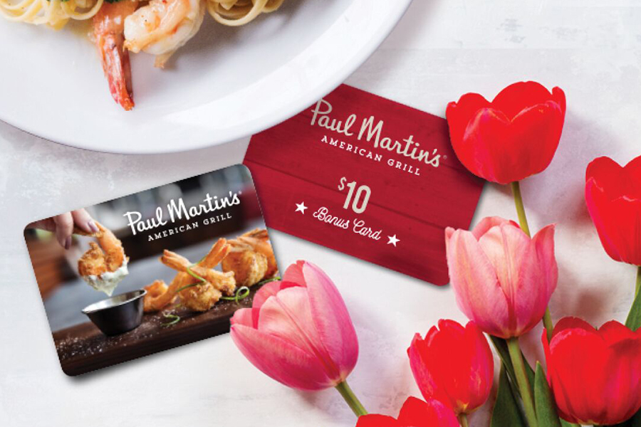 Paul Martin's American Grill: Spring Gift Card Promotion