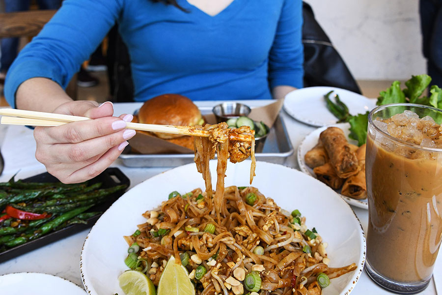 New Pad Thai at Social Monk Asian Kitchen