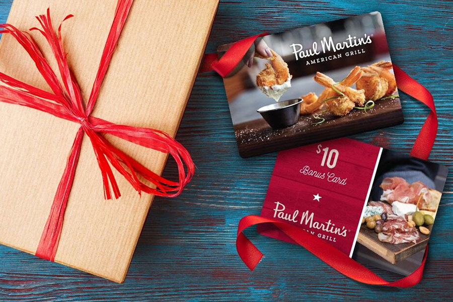 Holiday Gift Card at Paul Martin's American Grill