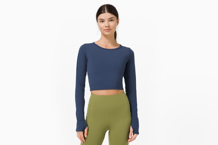 New Wunder Train Cropped Long Sleeve at lululemon
