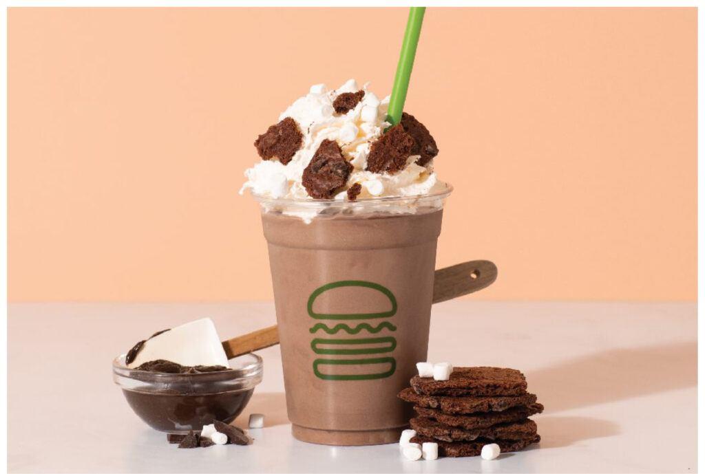 Brownie Batter Hot Cocoa Shake at Shake Shack