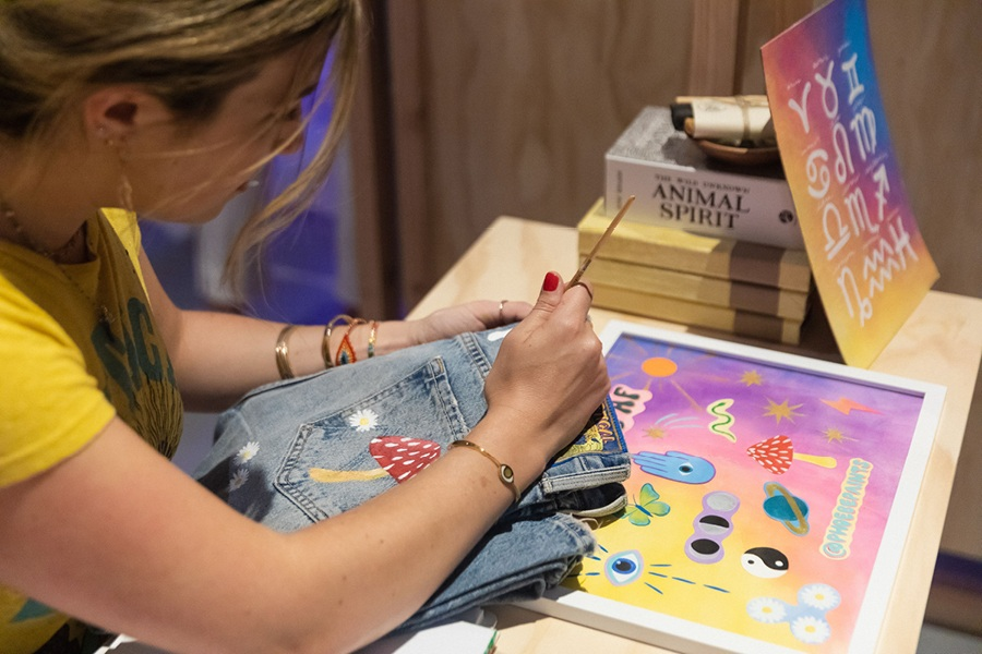 Piercings & Painting at Sharon Segal Nina Segal