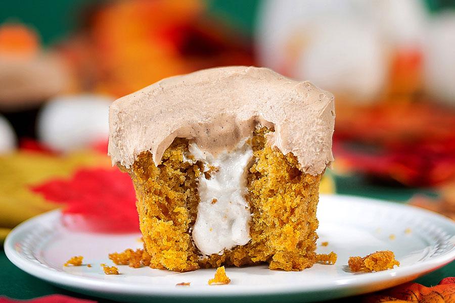 Fall Pumpkin Cupcake at Sprinkles Cupcakes & Ice Cream